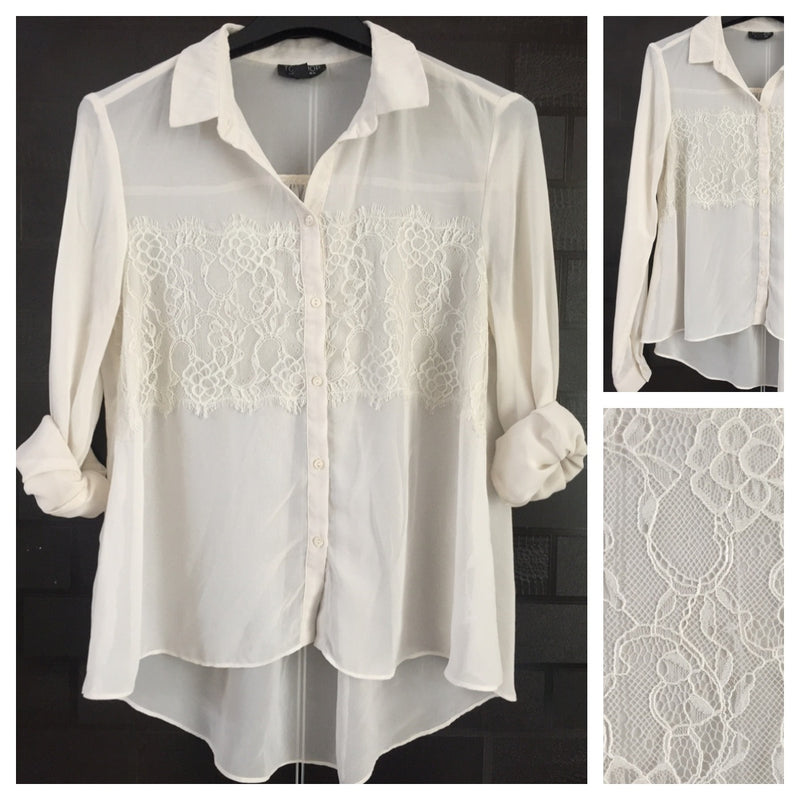 Anti-Fit, Cream Shirt with pretty front design