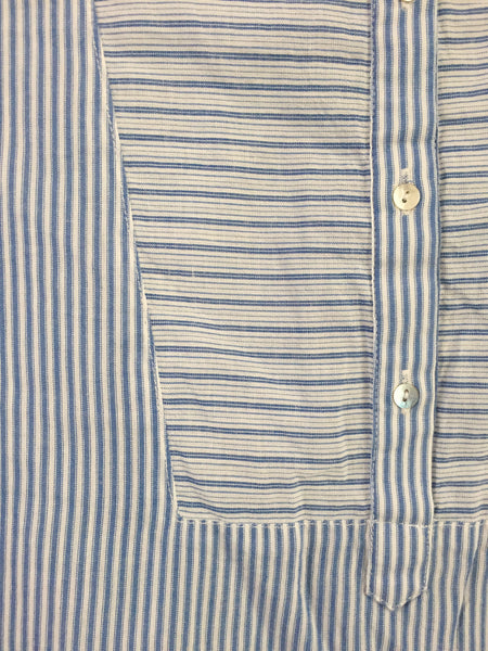 Blue and White, different striped Cotton Top