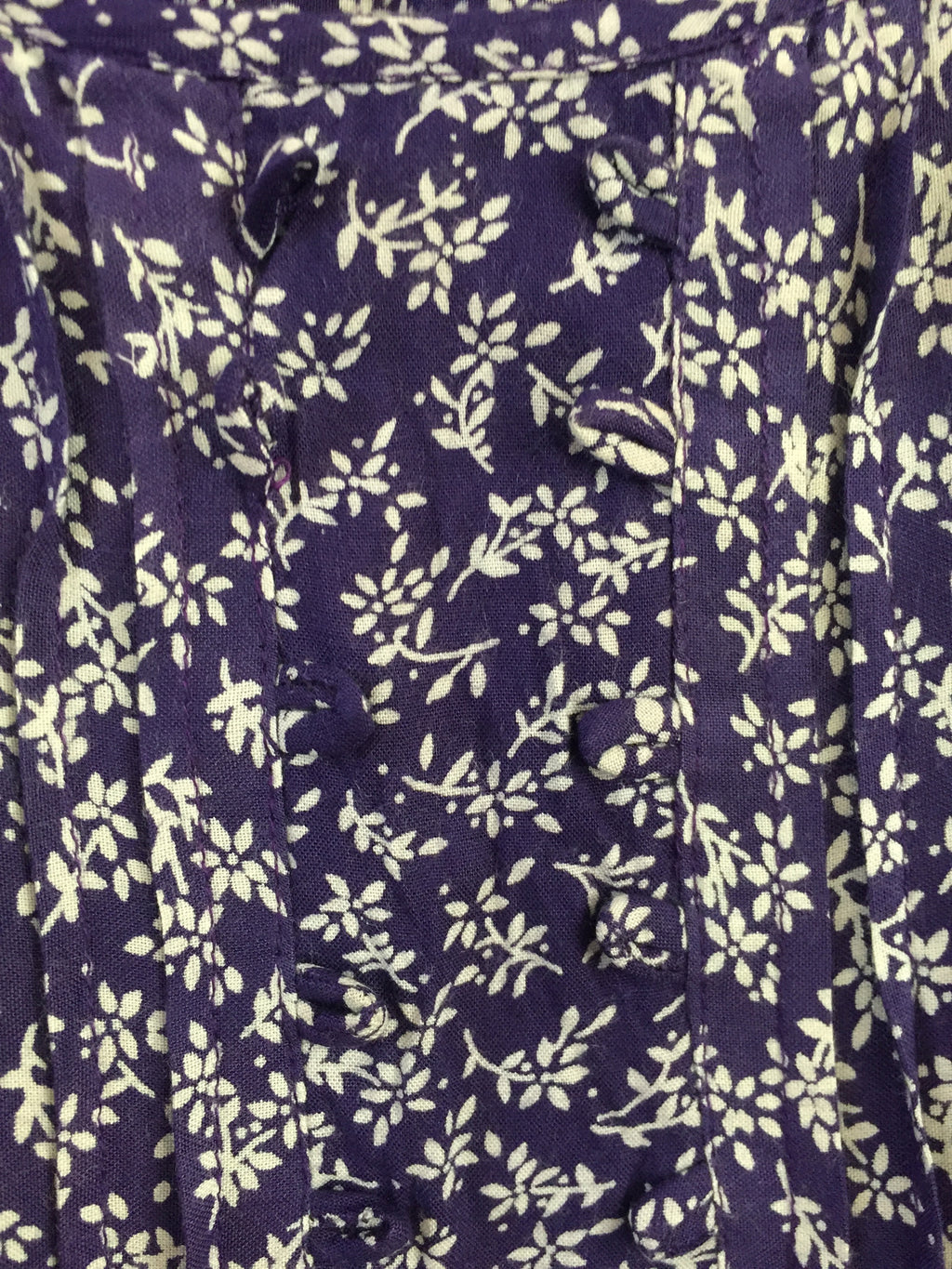 Back Tie, Purple and White Floral Top