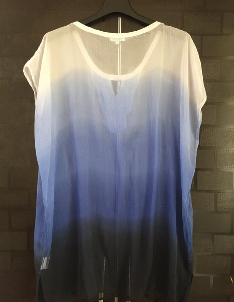 All Shades of Blue - Pretty Sequined Casual Top