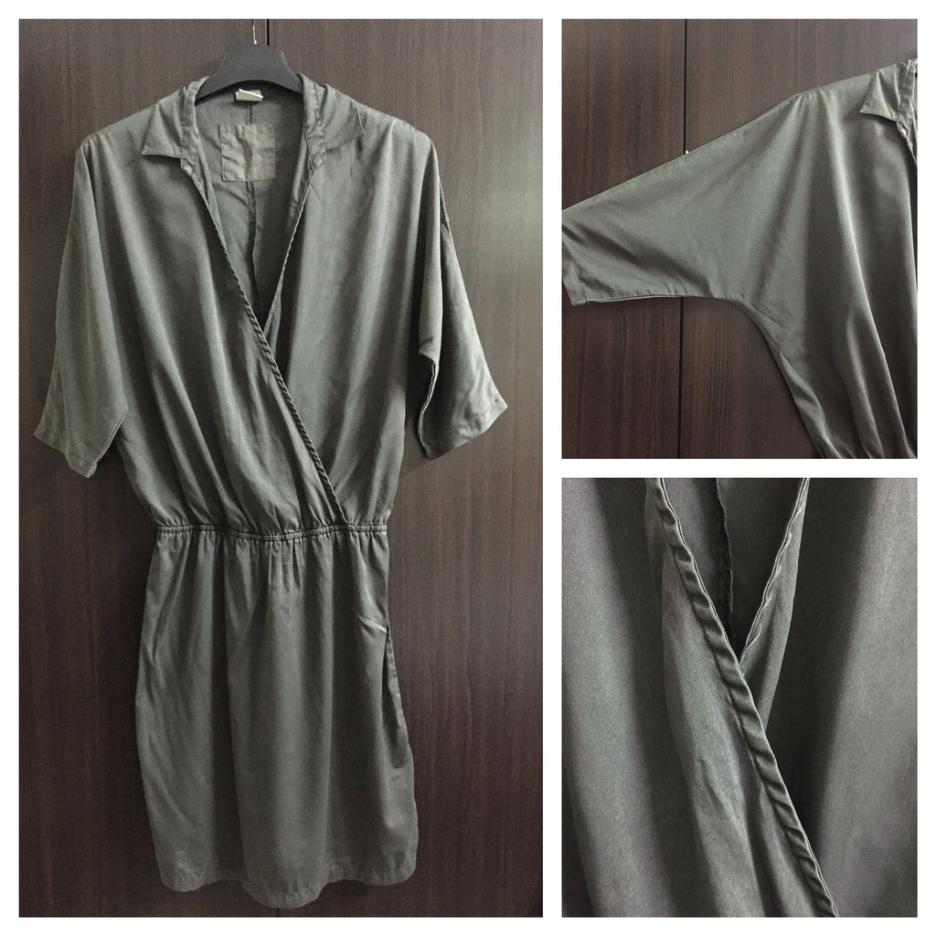 Stylish Grey Knee Length Dress