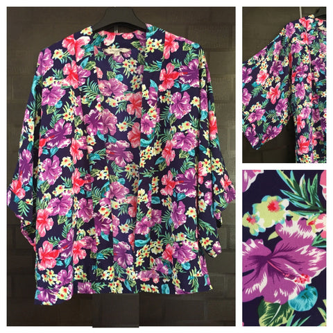 Multi-colored, Vibrant Floral Shrug