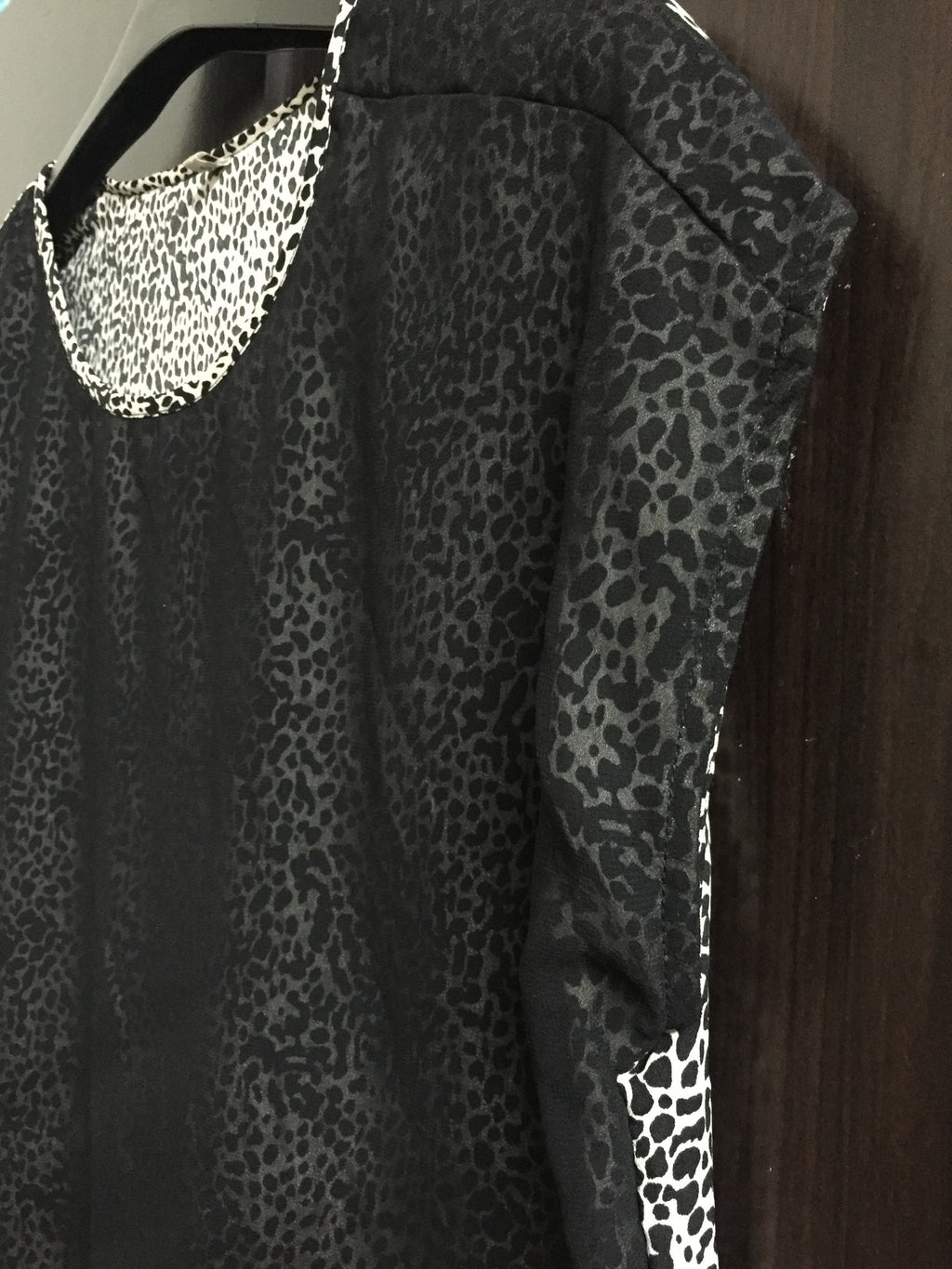 Animal Print Black Top with 2 layers. - #FTFY - For The Fun Years