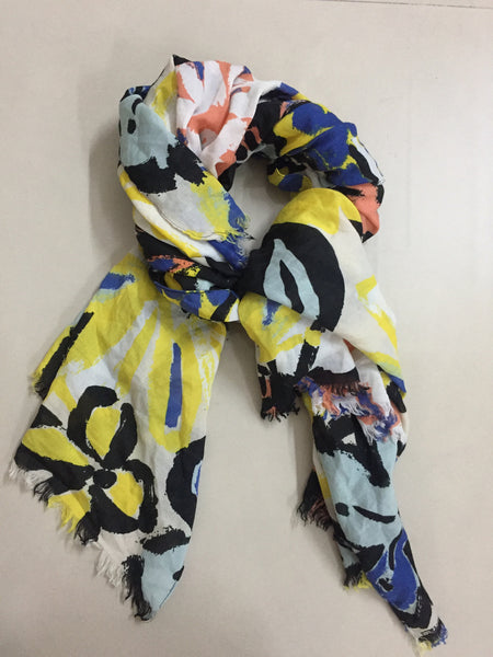 Rectangular Big Prints multicolor Scarf