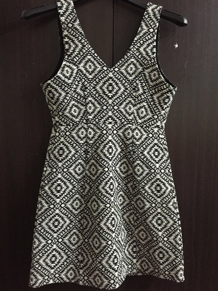 Fitted Monochrome Dress