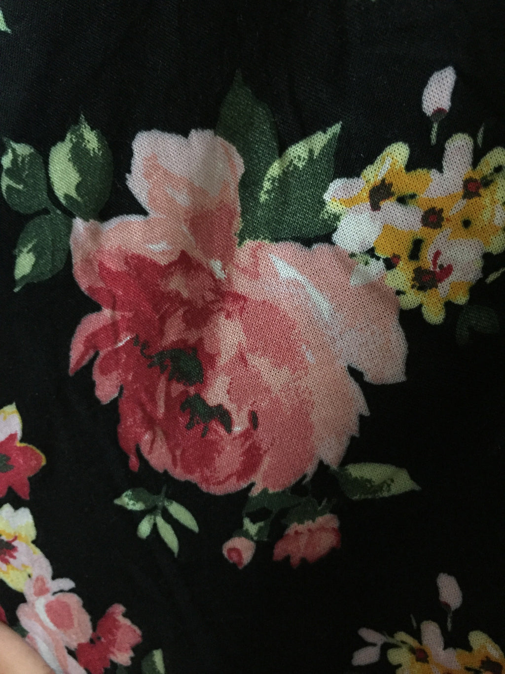 Big Red Flowers on Black Shrug with Tassels - #FTFY - For The Fun Years