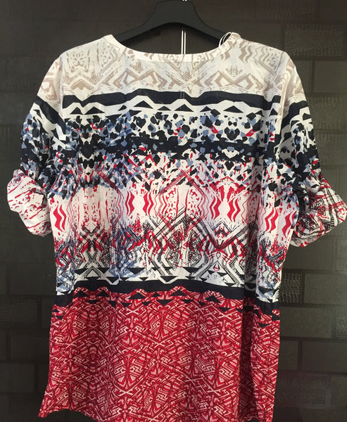 Multicolor Patterned Casual Top