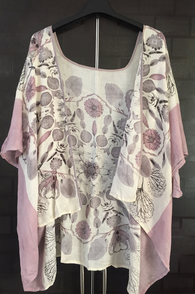 Casual Wear Light Grey Shrug with Flowers in different colors