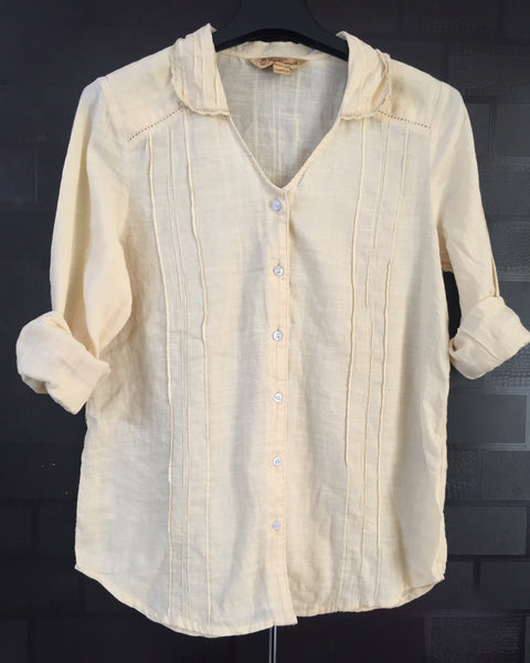 Light Yellow Casual Shirt with little lace work