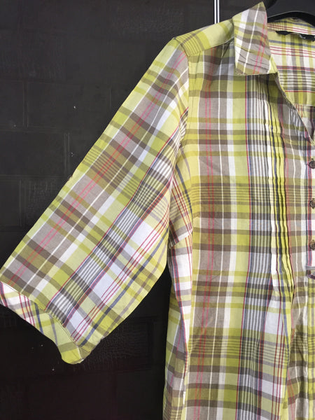 Checks -  Yellow and Brown Shirt