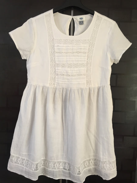 Lacey White Short Dress