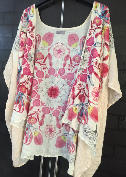 Casual Wear Pink Shrug with Flowers in different colors