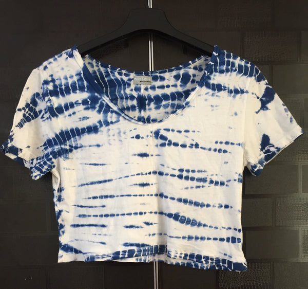 Blue and White Crop Tee - #FTFY - For The Fun Years