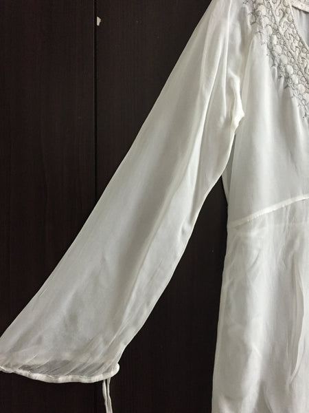 Dreamlike White Top with Silver work