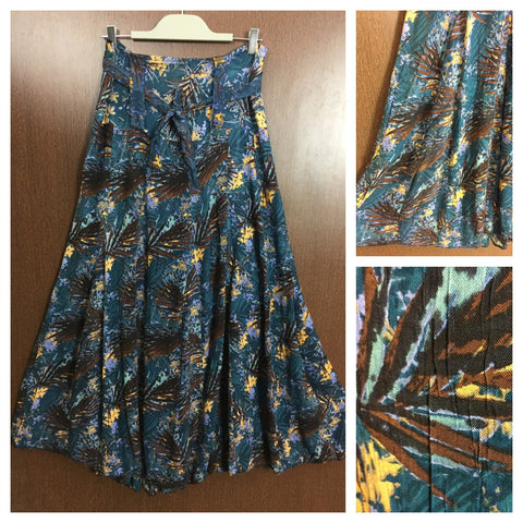 Long Skirt - Forestry - Green Blue and Brown Prints