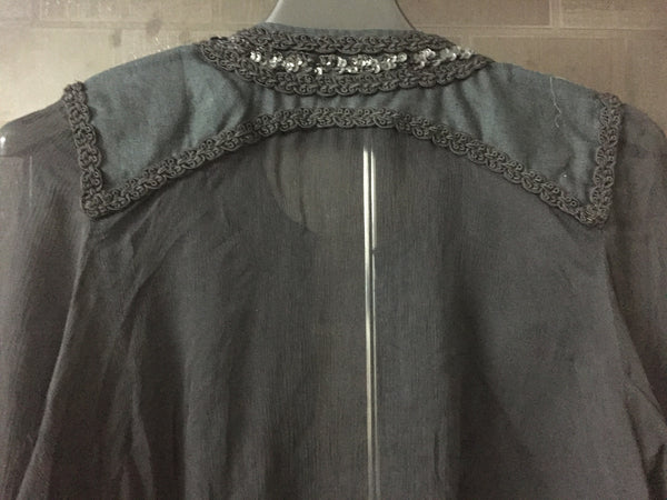 Front Linen, Back Viscose stylish sequined Jacket
