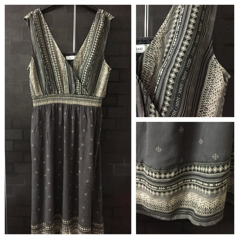 Casual wear - Printed Grey Dress