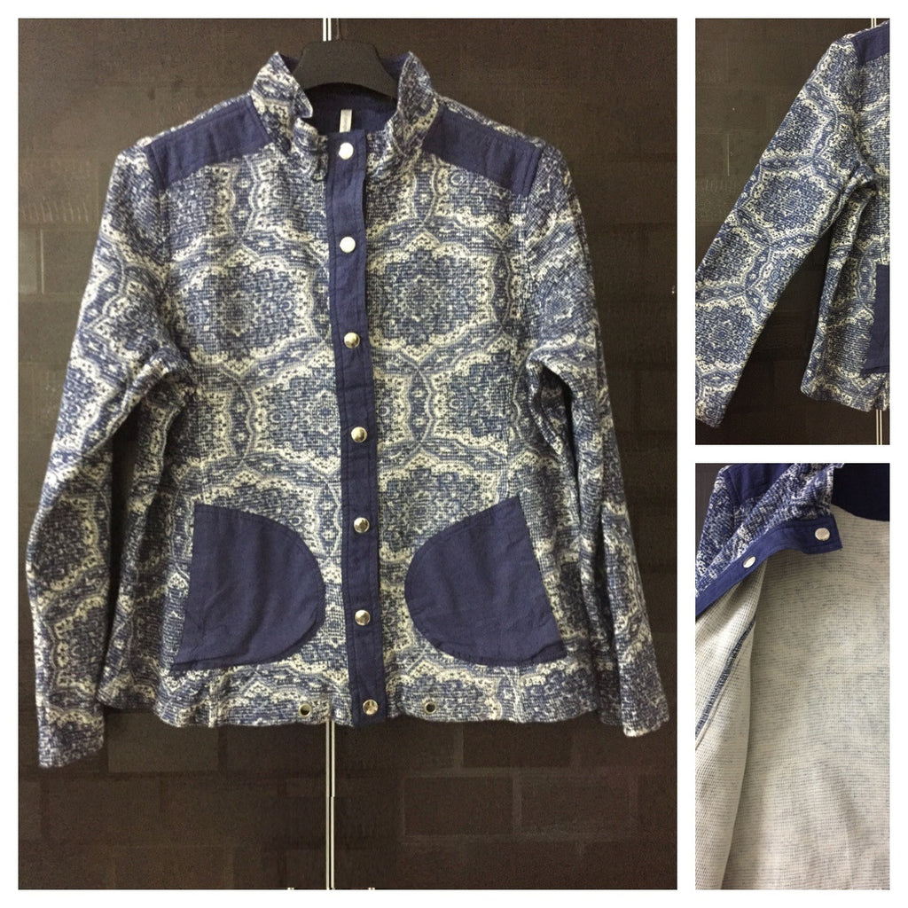 The Blue Printed Jacket
