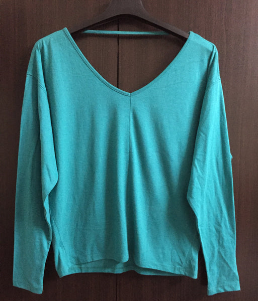 Light Green Long Sleeves Top
