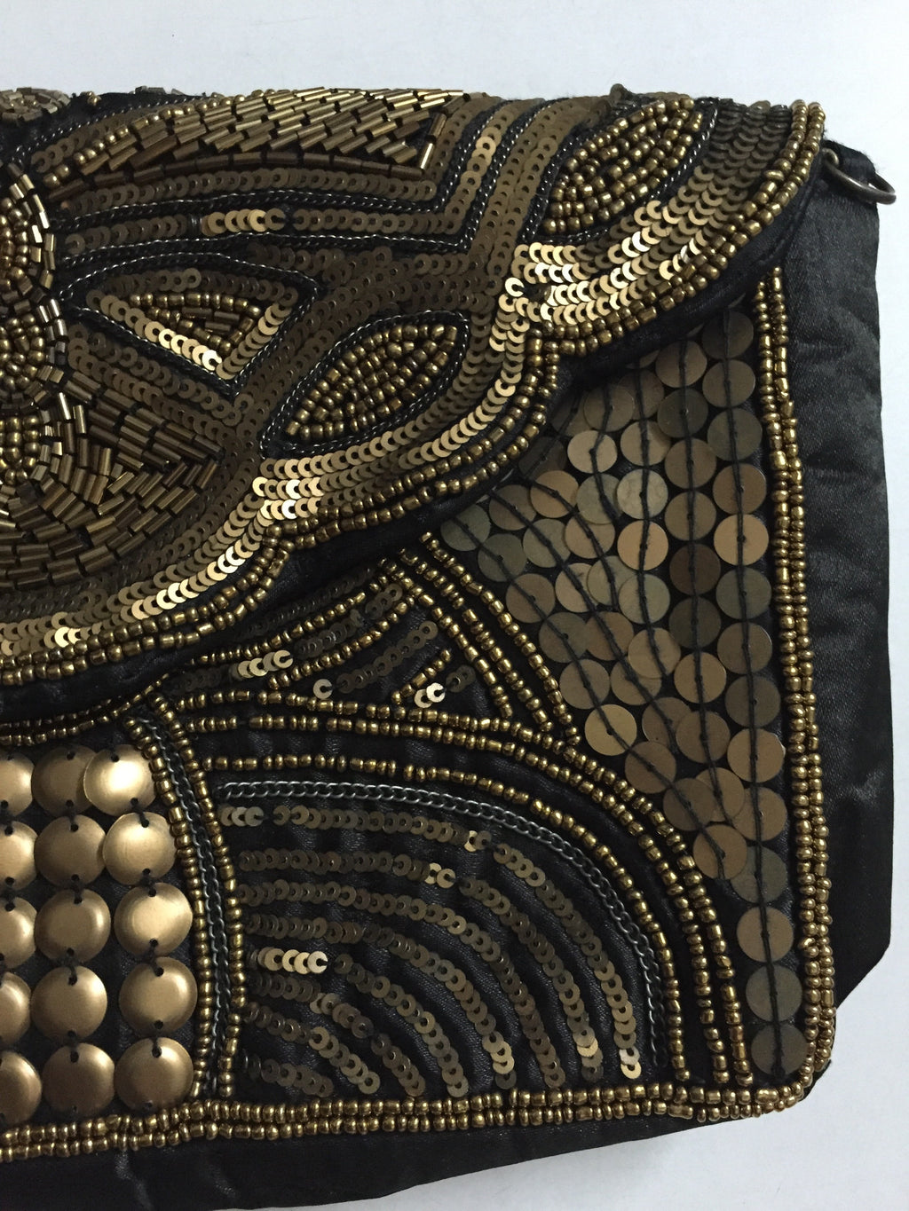 Beads & Sequins - Bronze Magic Clutch - #FTFY - For The Fun Years