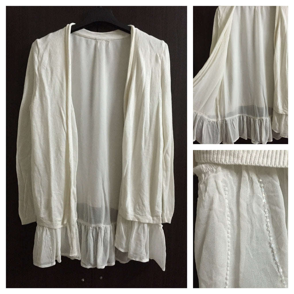 White Knitted, Little Warm Cardigan