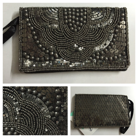 Beads & Sequins - Grey Magic Clutch - #FTFY - For The Fun Years