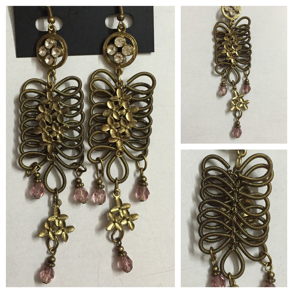 Sipral Bronze Dangling Earrings