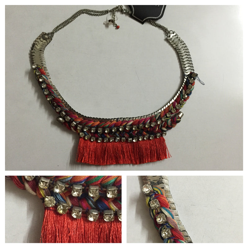 Boho Rust tasseled neck piece - #FTFY - For The Fun Years