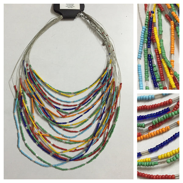 Multicolor - Multilayer vibrant neckpiece