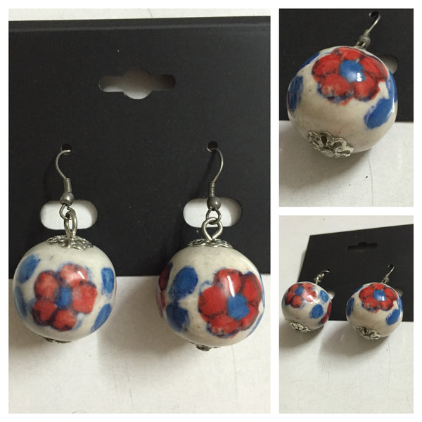 The Red-Blue Ball Earring