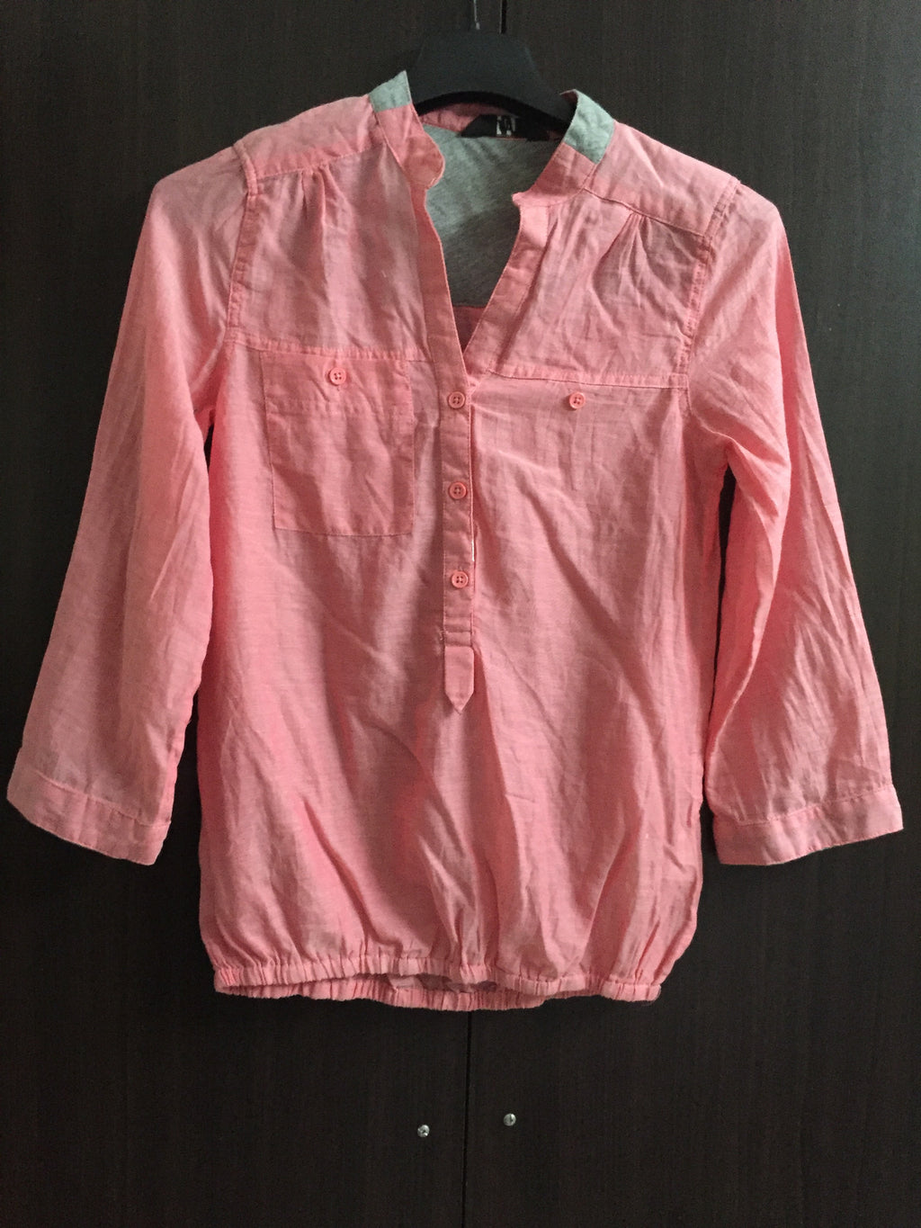 Light Pink Casual Top with few front buttons
