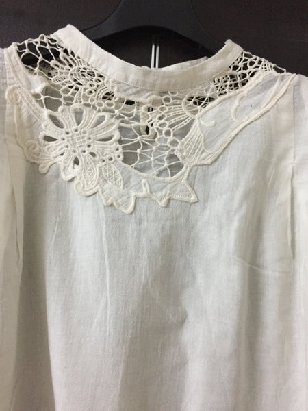 Pretty Design on Neck - Off White Stylish Top
