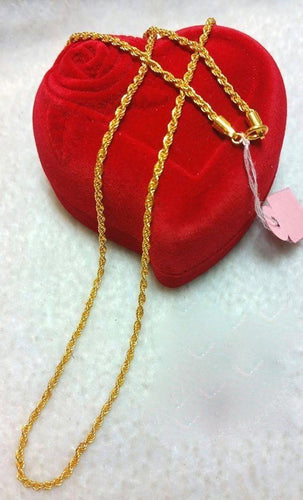 21K Gold Necklace 10479 - ZNZ Jewelry Philippines