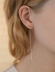 Dangling Line Earrings 18K Gold