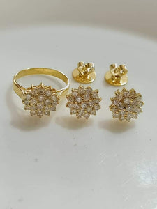 2.3ctw Rositas Diamond Jewelry Set 14K Yellow Gold