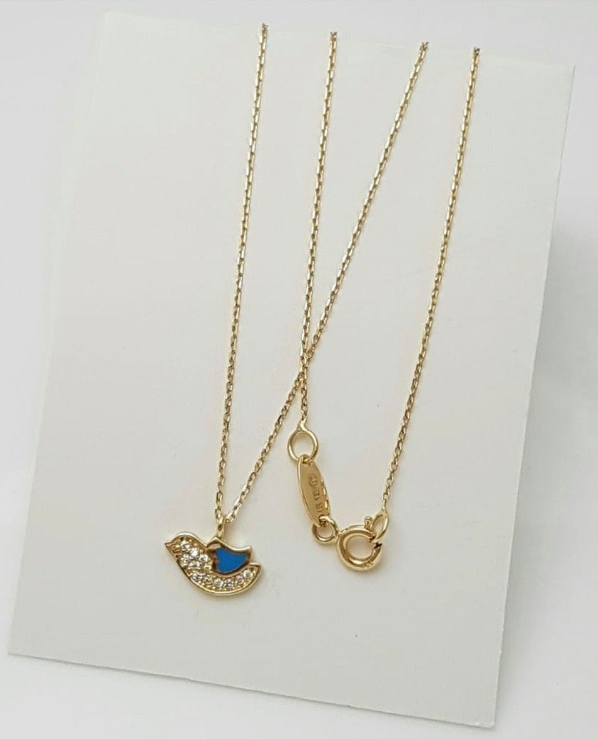 18K Gold Bird Necklace 64814 - SOLD OUT - - ZNZ Jewelry Philippines