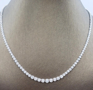 Diamond Tennis Necklace 14K White Gold