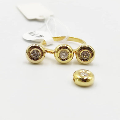1ctw Donut Diamond Stud Earrings, Ring, Pendant Jewelry Set in 14K Yellow Gold
