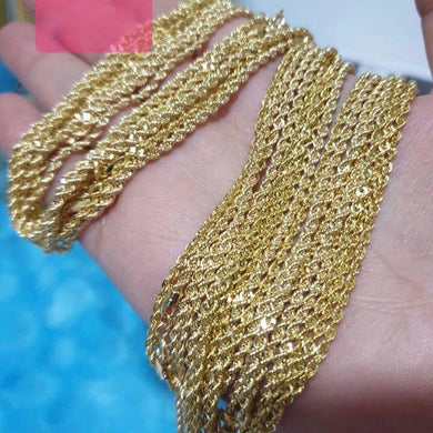 18K Gold Rope Chain Necklace 21jntt3 - ZNZ Jewelry Philippines