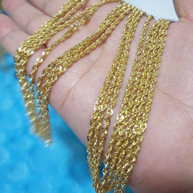 18K Gold Rope Chain Necklace 21jntt4 - ZNZ Jewelry Philippines