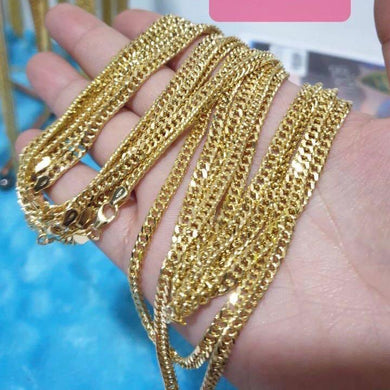 18K Gold Cuban Link Chain Necklace 21jntt5 - ZNZ Jewelry Philippines
