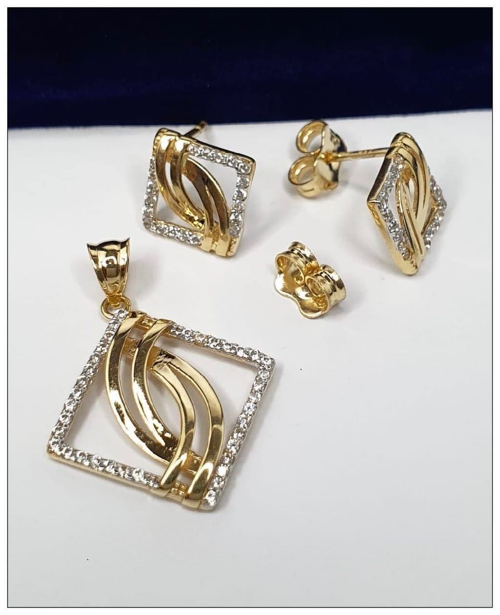Jewelry Set in 18K Gold 21jntt10 - ZNZ Jewelry Philippines