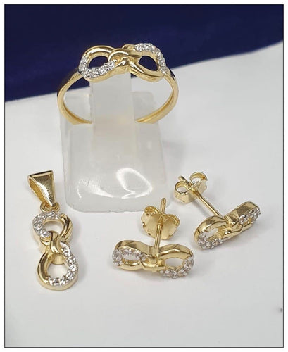 Infinity Jewelry Set in 18K Gold 21jntt19 - ZNZ Jewelry Philippines
