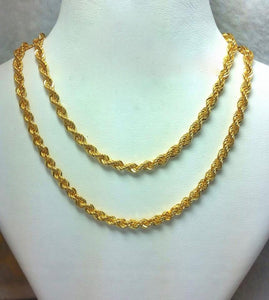 21K Gold Necklace 104724 - ZNZ Jewelry Philippines