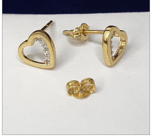 Heart Earrings 18K Gold 25jn24 - ZNZ Jewelry Philippines