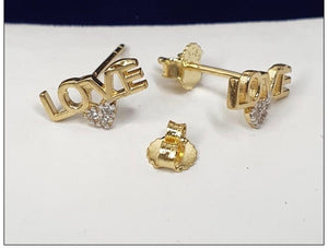 Love Earrings 18K Gold 25jn57 - ZNZ Jewelry Philippines