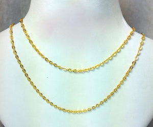 21K Gold Necklace 104725 - ZNZ Jewelry Philippines