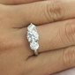 Three-Stone Engagement Ring/Women's Ring