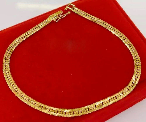 Men's Gold Bracelet 18K Gold mtt44, 10 Cut - ZNZ Jewelry Philippines