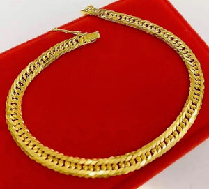 Men's Gold Bracelet 18K Gold mtt45, 10 Cut - ZNZ Jewelry Philippines